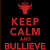 Keep Calm and still Bullieve logo